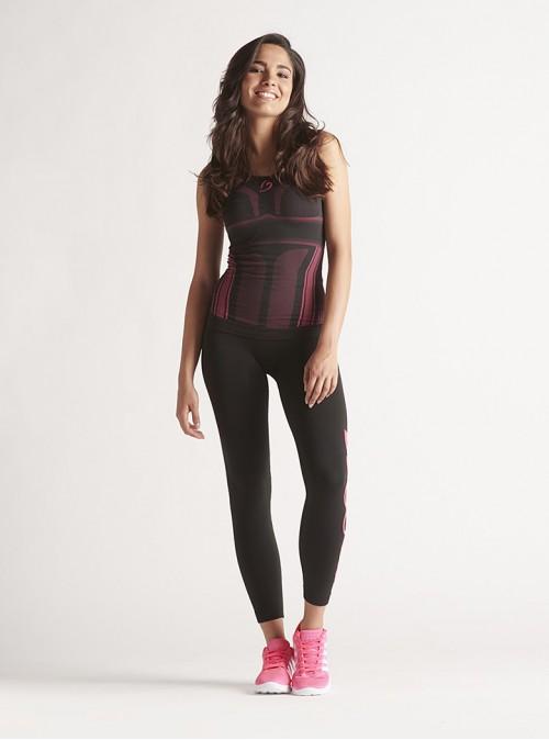 Sportset für Damen: Modellierendes Shirt + Sport-Leggings