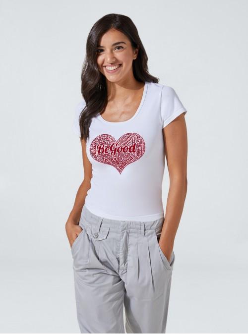 T-shirt amincissant et hydratant avec imprimé cœur