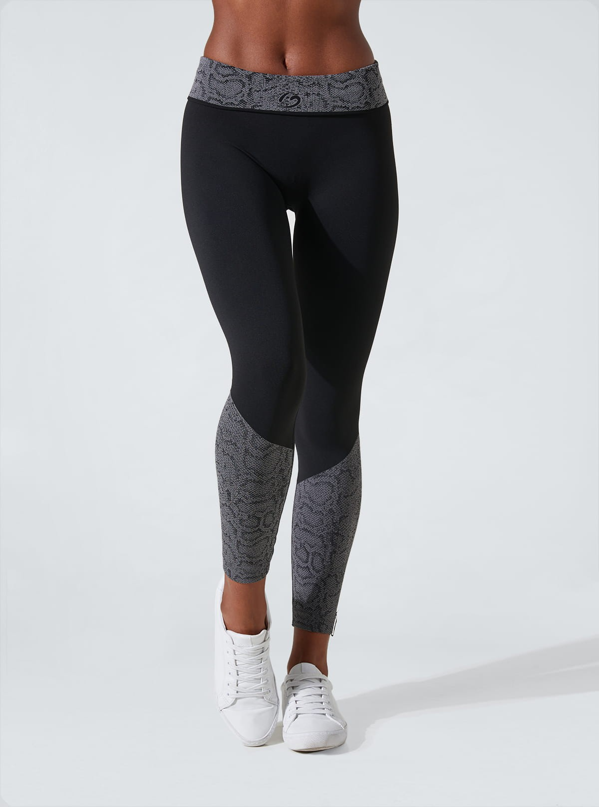 Superslim leggings, flat tummy, draining and hydrating with jacquard python print inserts