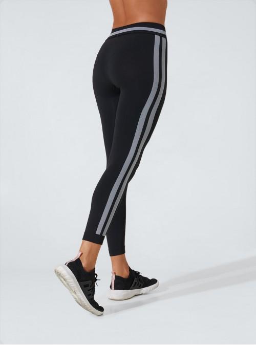 Superslim-Leggings für einen flachen Bauch, hydratisierend mit Seitenstreifen