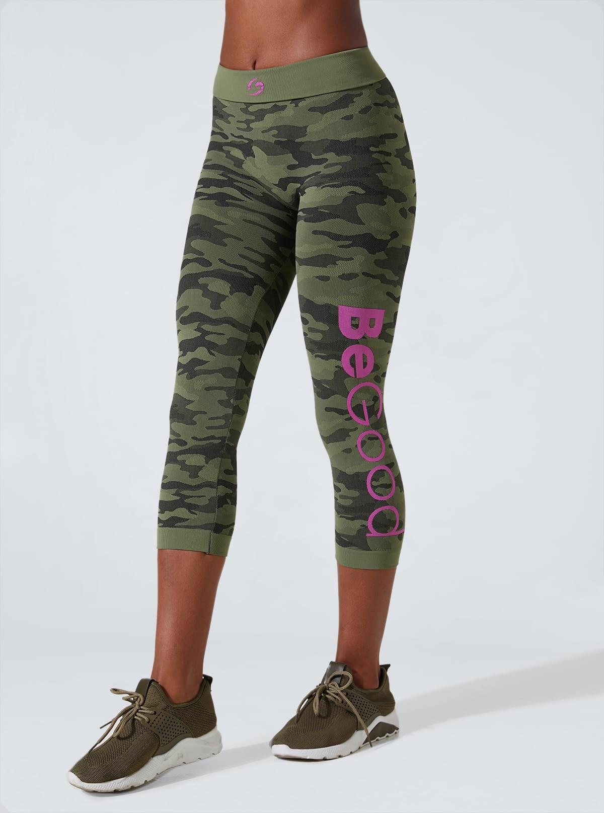 Short Leggings Capri Sport Camouflage in Dermofibra® Cosmetics
