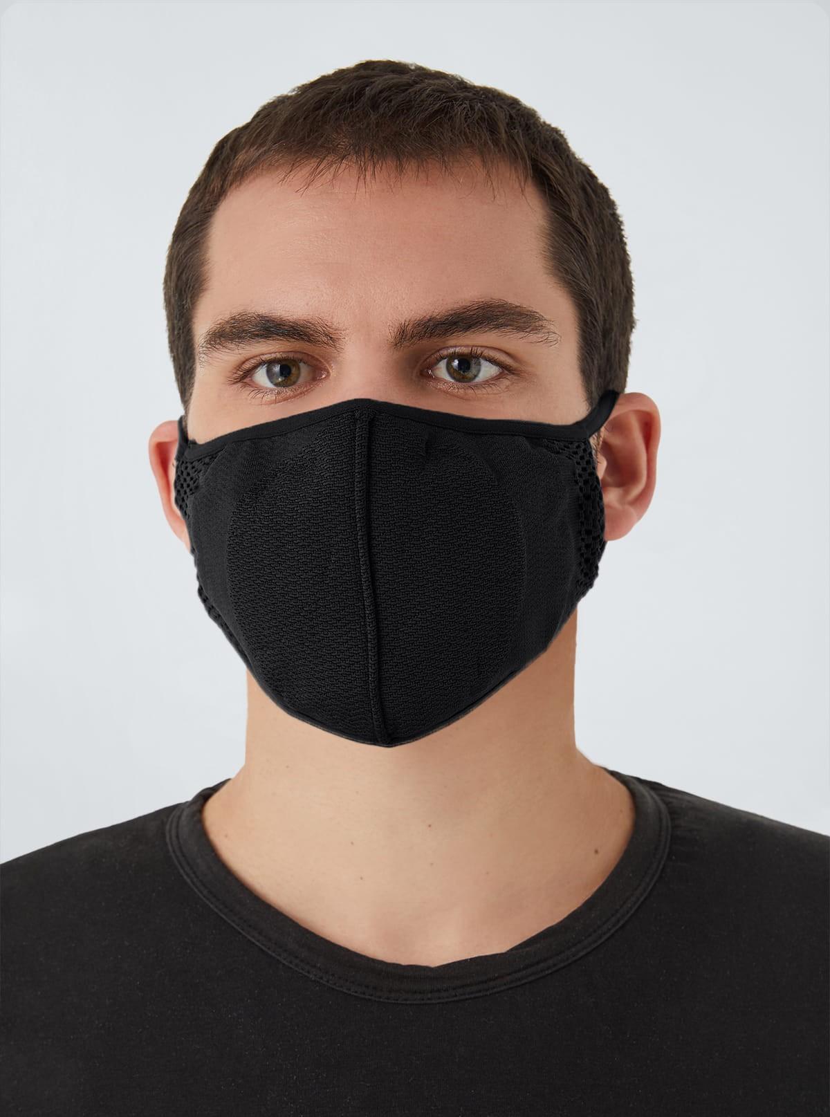 Carbon-Mask Pro lavabile e Riutilizzabile, in Carbonio Filtrante, Antistatica, Antivirale, Antidroplet
