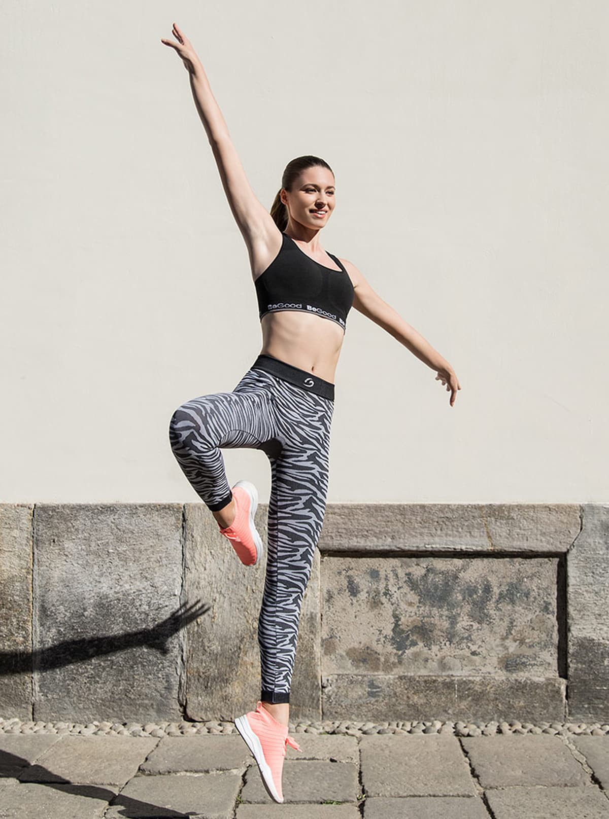 Completo Sport Donna: Top double-face + Legging zebrato
