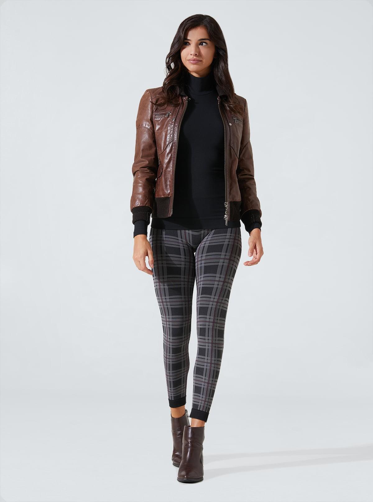 Completo Fashion Donna: Maglia lupetto + Legging scozzesi