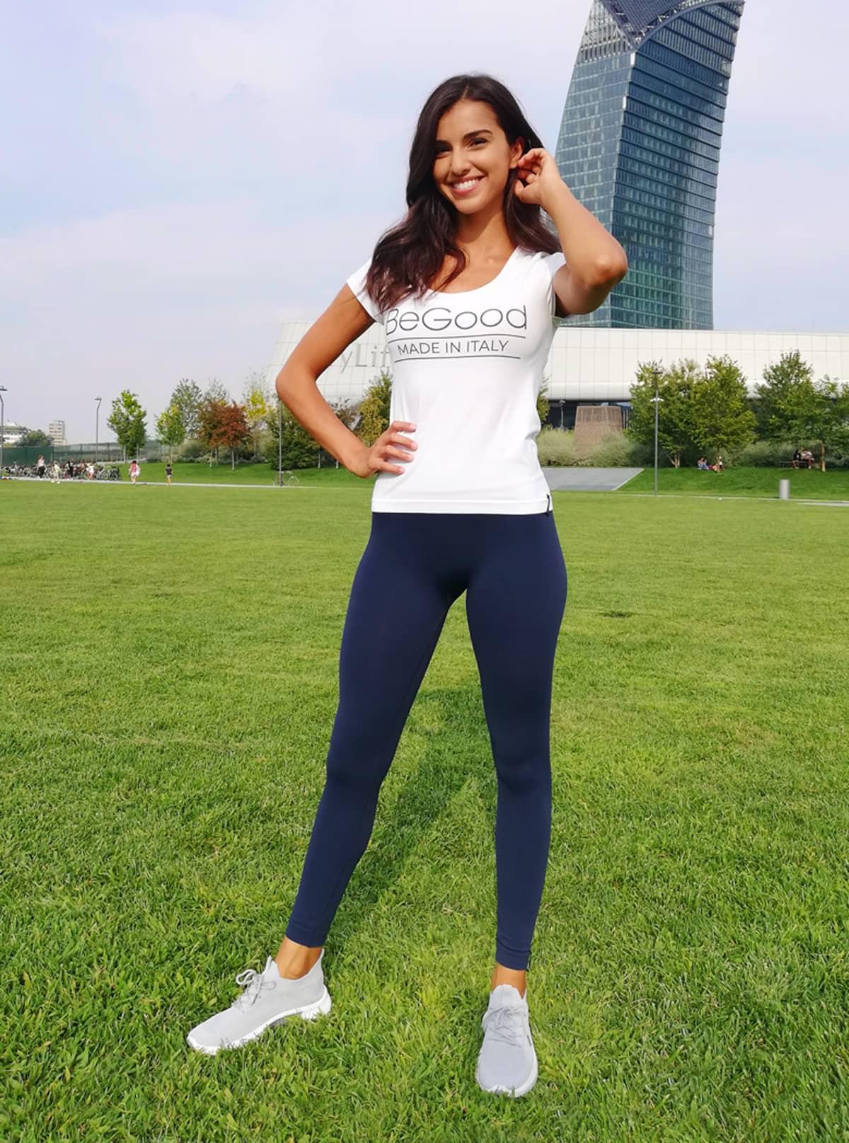Fashion-Set für Damen: Shirt 'BeGood' + Legging Superslim