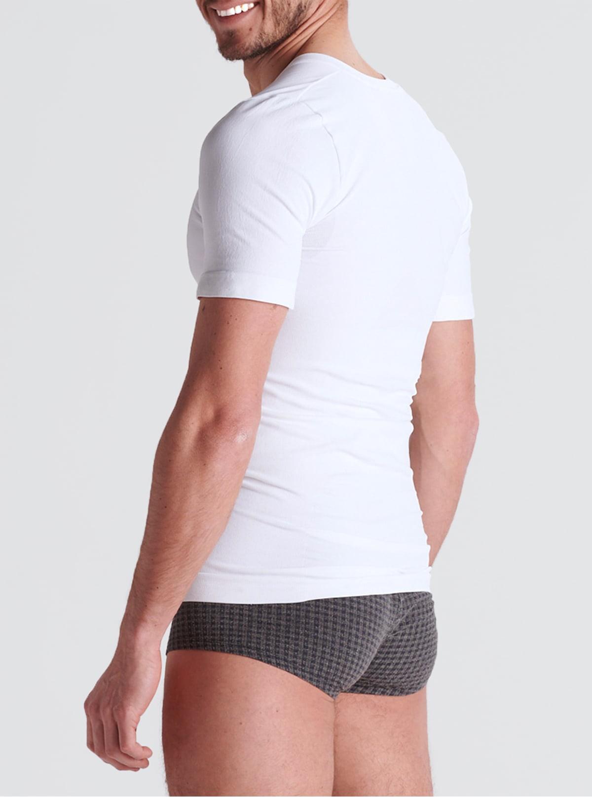 White Men's Postural Top in Dermofibra® Cosmetics
