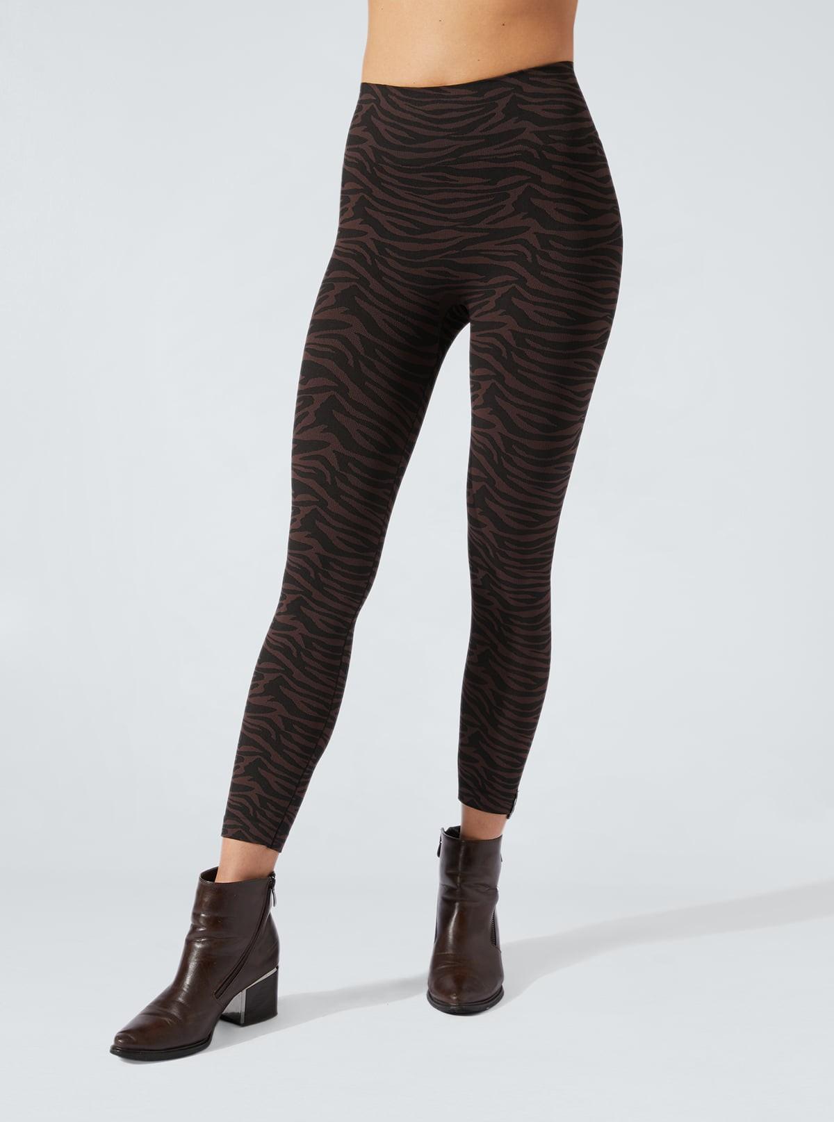 Legging Animalier Zébre noir-marron effet amincissant et hydratant