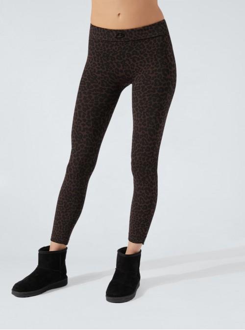 Black-Brown Speckled Animalier Legging in Dermofibra® Cosmetics
