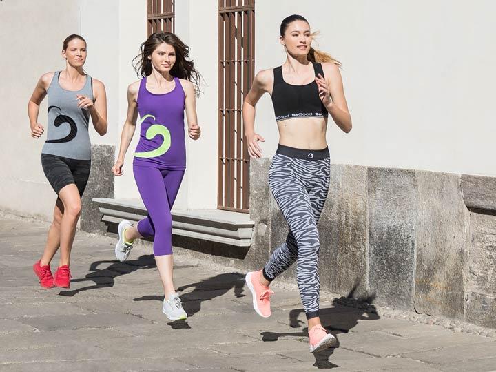 attività fisica all'aperto: running con completo sport begood