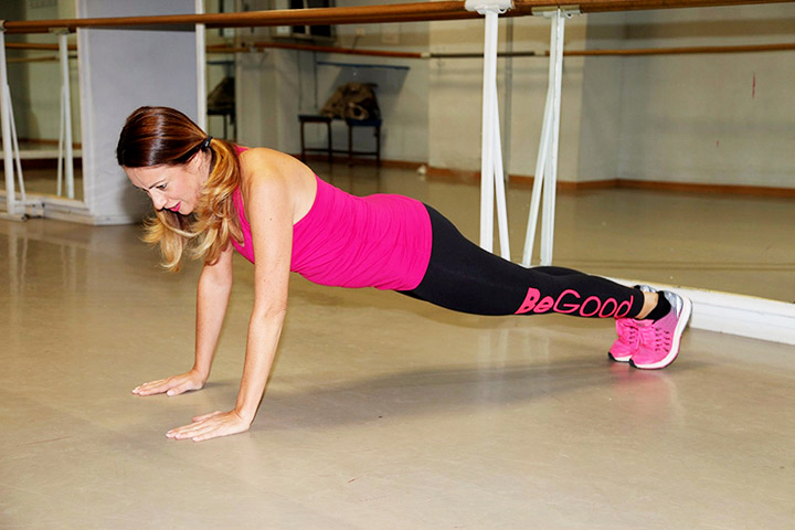 burpees exercise with BeGood legging