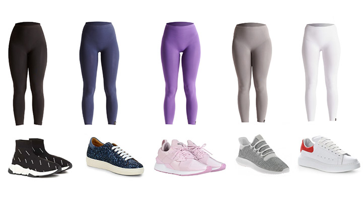 leggings snellenti idratanti in dermofibra cosmetics varianti colore