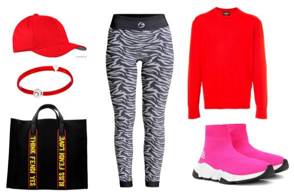 rosso, zebra e stile