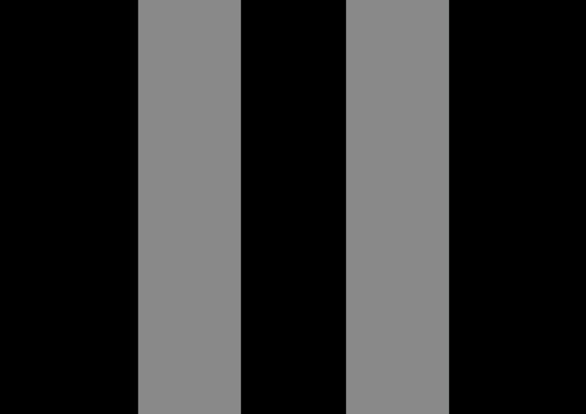 Black with gray stripes